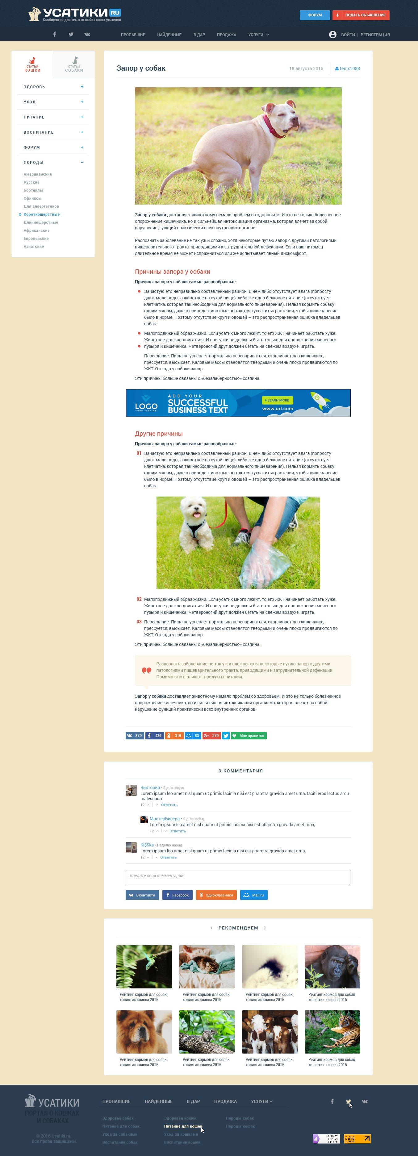 Дизайн текста для сайта