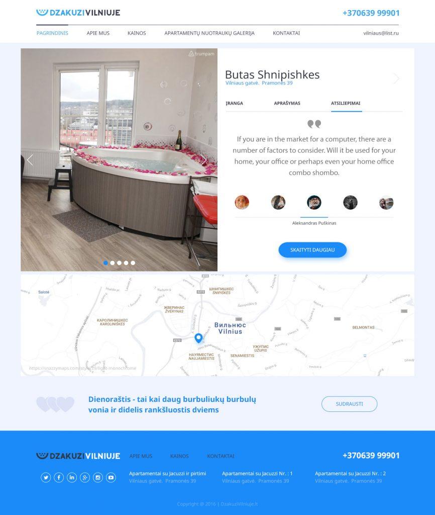 Дизайн внутренней страницы сайта